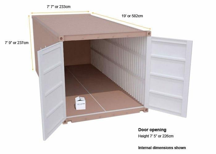 large cheap self storage unit