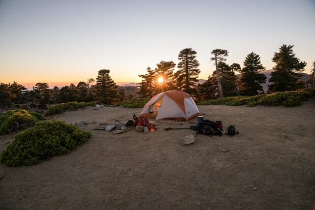 storing camping gear