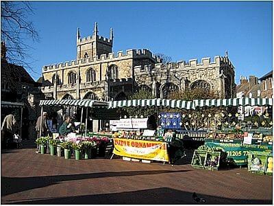 Huntingdon Marketplace in Cambridgeshire